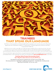 Trainees that speak our language - ad